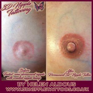 Helen Aldous 3D Nipple Tattoos